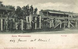 POLSKA - POLAND, WARSZAWA, Zycie Warszawskie, Wyscigi, RACE COURSE - Poland