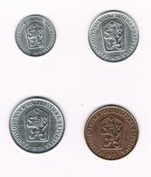 TSJECHOSLOWAKIJE  1 - 5 - 10 - 50 HALERU  1962/70/70/71 - Czechoslovakia