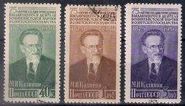Russia 1950, Michel Nr 1515-17, Used - Usati