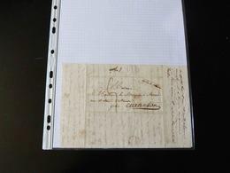 LETTRE DE GROSMESNIL  POUR CARANTAN   AVEC CACHET  74 ST SAENS - 1801-1848: Precursores XIX
