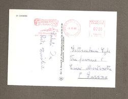 1988 CHRISTINA HOTEL LOURDES EMA Affrancatura Meccanica Rossa CARTOLINA PER ITALIA - Affrancature Meccaniche Rosse (EMA)