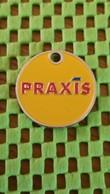 Shopping Carts / Winkelwagentjes / Jeton De Caddie -  Netherlands  -  Praxis ( Blauw Hamer ) - Einkaufswagen-Chips (EKW)