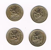 TSJECHOSLOWAKIJE  4 X 20 HALERU  1972/73/77/79 - Tchécoslovaquie