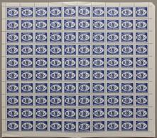 "Croatia Republic Of Serbian Krajina 1993 Definitive ""R"", Sheet Of 100, MNH (**) Michel 22 - Croatie"