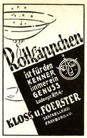 Original-Werbung/ Anzeige 1938 - ROTKÄPPCHEN SEKT / KLOSS & FOERSTER FREYBURG - Ca. 45 X 65 Mm - Werbung