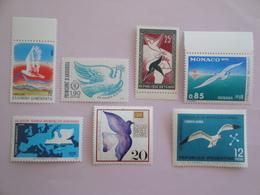Oiseaux Birds Lot De 7 Timbres ** Voir Photo Et Description - Oiseaux