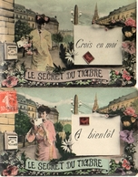 Langage Des Timbres - Secret Du Timbre Femme X 2 (ELD - Briefmarken (Abbildungen)
