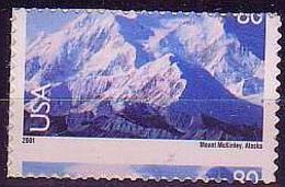 USA 2001 Error Perforation Mountains Alsaka Mount McKnley MNH** R59 - Unused Stamps