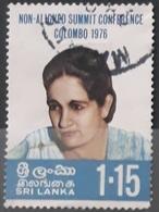 SRI LANKA 1976 Non-aligned Summit Conference, Colombo. USADO - USED. - Sri Lanka (Ceylon) (1948-...)
