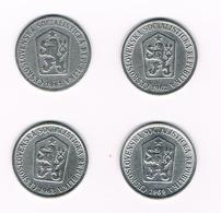 TSJECHOSLOWAKIJE  4 X 10 HALERU  1961/62/63/69 - Tchécoslovaquie