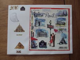 Capitales Européennes Paris N° F4514  // Premier Jour FDC //  2010 - 2010-....