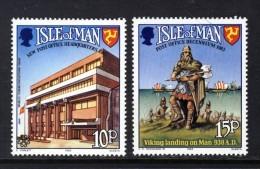 GB ISLE OF MAN IOM - 1983 COMMUNICATIONS & POST OFFICE ANNIVERSARY SET (2V) FINE MNH ** SG 255-256 - Isle Of Man