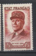 FRANCE   N° 580* (1943) - Frankrijk