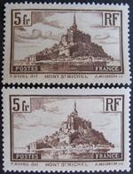 R1752/412 - 1929 - MONT SAINT MICHEL - N°260 Et 260a - Cote : 52,50 € - France