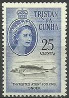 Tristan Da Cunha - 1961 Snoek 25c MNH **     SG 52  Sc 52 - Tristan Da Cunha