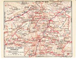 Carte Topographique SENONES - LE DONON - SCHIRMECK De Avril 1920 - Elsass-Lothringen