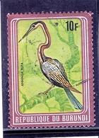 Burundi - Oiseau - COB 838B - Avec Cadre Métallique Brun - Non Catalogué Chez Yvert - Obl/gest/used (à Voir) - Burundi