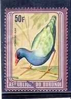 Burundi - Oiseau - COB 838F - Avec Cadre Métallique Brun - Non Catalogué Chez Yvert - Obl/gest/used (à Voir) - Burundi