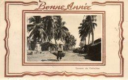 BONNE ANNEE......  SOUVENIR DE L INDOCHINE...1952..ecrite A Saigon.. - Cartes Postales