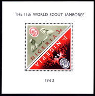 Nigeria 1963 Scout Jamboree Souvenier Sheet Unmounted Mint. - Nigeria (1961-...)