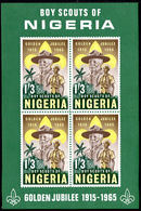Nigeria 1965 50th Anniv Of Nigerian Scout Movement Souvenir Sheet Unmounted Mint. - Nigeria (1961-...)