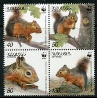 (WWF-292) W.W.F. Armenia Squirrel MNH Stamps 2001 - W.W.F.