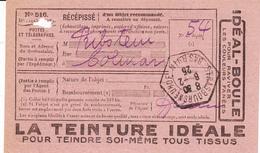 RECEPISSE D'un Objet Recommandé Avec TàD STRASBOURG NEUHOF Du 6.2.25 - Alsace Lorraine