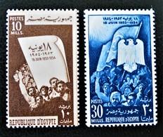ANNIVERSAIRE DE LA REPUBLIQUE 1954 - NEUFS ** - YT 363/64 - MI 472/73 - Egypt