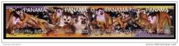 WWF W.W.F. Panama Red-basked SQUIRREL Monkey MNH Stamps 2007 - W.W.F.