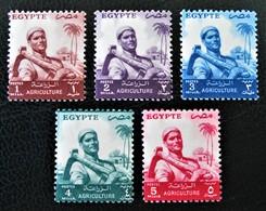 FEILAH 1954 - NEUFS ** - YT 365/68 - MI 474/78 - Egypt