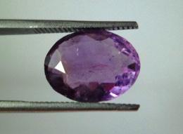 4.95 Ct Ceylon Natural Purple Amethyst Oval Shape Mixed Cut Loose Gemstone - Amethyst