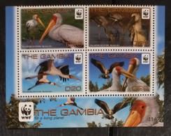 (WWF-478) W.W.F. Gambia Yellow-billed Stork Bird / Birds MNH Perf Stamps 2011 - W.W.F.