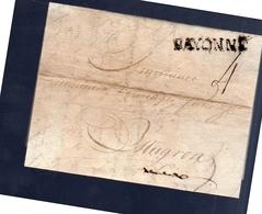 1787 Stettin Simon Hübener Beine > Bayonne > Domenger à Mugron (commerce Du Vin) (poor Condition) (EO7-61) - Polen