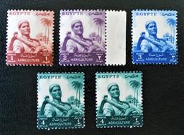 FEILAH 1954 - NEUFS ** - YT 365/67A - Egypt