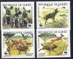 (WWF-058) W.W.F. Guinea African Wild Dog / Animal MNH Perf Stamps 1987 - W.W.F.