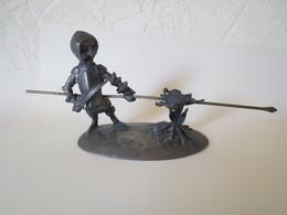 """Figurine Artisanale  """" Don Quichotte """" étain Véritable """" Michel Daule - Altri"""