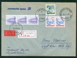 Yugoslavia 1989 FDC Definitive Issue Michel 2327 Post Global Peace Worth Express Letter - 1945-1992 Repubblica Socialista Federale Di Jugoslavia