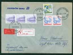 Yugoslavia 1989 FDC Definitive Issue Michel 2327 Post Global Peace Worth Express Letter - 1945-1992 Sozialistische Föderative Republik Jugoslawien