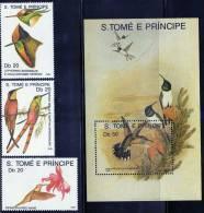 SAO TOME E PRINCIPE  1989  HUMMINGBIRDS  SET & MS   MNH - Segler & Kolibris