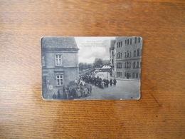 ABTRANSPORT GEFANGENER FRANZOSEN VON BAHNHOF IN HAVELBERG - War 1914-18