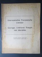 Liste Otto - Ouvrages Littéraires Français Non Désirables - 1942 - - Documents