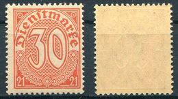 D. Reich Dienst Michel-Nr. 20 Postfrisch - Officials