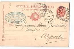 8222 01  CAMPAGNOLI GIUSTINIANO BOLOGNA X ARGENTA - Stamped Stationery