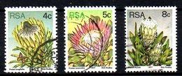 AFRIQUE DU SUD. Timbres Oblitérés De 1977. Proteas. - Plants