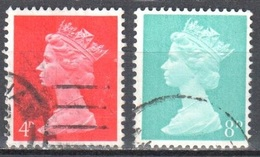 Great Britain - 1969 - QE2 - Machin - Mi.496-97- Used - 1952-.... (Elizabeth II)