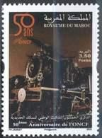 MAROC MOROCCO CINQUANTENAIRE DES CHEMINS DE FER TRAINS LOCOMOTIVE 2013 - Morocco (1956-...)