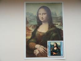 CARTE MAXIMUM CARD LA JOCONDE PAR LEONARD DE VINCI BULGARIE - Art