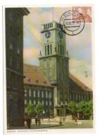 GF Carte Maximum 161, Allemagne Deutsche Post 1956 Berlin Schonberg Rudolf Wilde Platz - Maximum Cards
