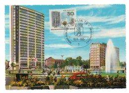 GF Carte Maximum 163, Allemagne Deutsche Bundespost Berlin 1965 Ernest Reuter Platz - Maximum Cards