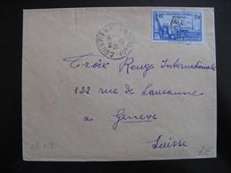 S/L 258 - TB Enveloppe Affranchie Avec  N° 458;  De Courpière Pour La Suisse  ( 24/07/1940) - Postmark Collection (Covers)